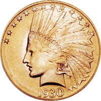 1930 S Indian Head Gold Eagle