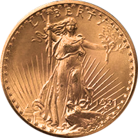 1931 D St Gaudens Double Eagle