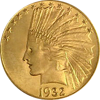 1932 Indian Head Gold Eagle