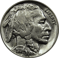 1934 P Buffalo Nickel