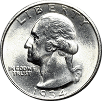 1934 Washington Quarter