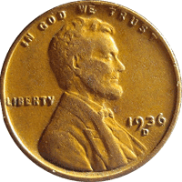 1936 S Wheat Penny