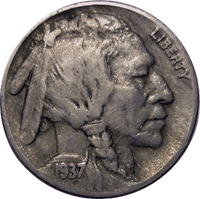 1937 D Buffalo Nickel