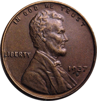 1937 S Wheat Penny