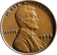 1938 S Wheat Penny
