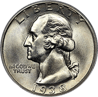 1938 Washington Quarter