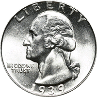 1939 D Washington Quarter