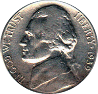 1939 S Jefferson Nickel