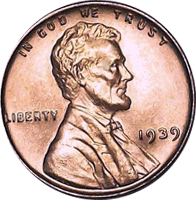 1939 S Wheat Penny