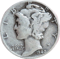 1940 D Mercury Dime Value Cointrackers