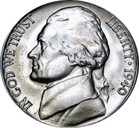 1940-S San Francisco Mint Jefferson Nickel