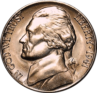 1941 D Jefferson Nickel