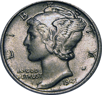 1941 Mercury Dime Value Cointrackers