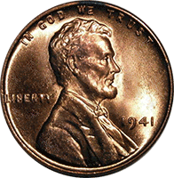 1941 Wheat Penny Value Cointrackers