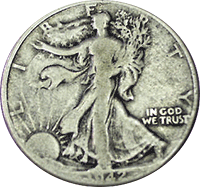1942 D Walking Liberty Half Dollar