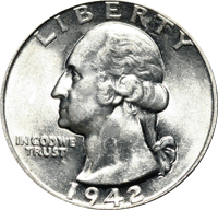 1942 D Washington Quarter