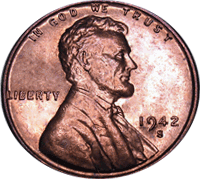 1942 S Wheat Penny