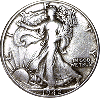 1942 walking liberty half dollar value cointrackers