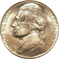 1943 D Jefferson Nickel
