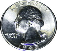 1943 D Washington Quarter