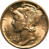 1943 S Mercury Dime Value Cointrackers