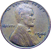 1944 S Wheat Penny
