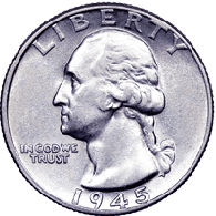 1945 S Washington Quarter