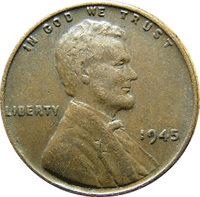 1945 S Wheat Penny