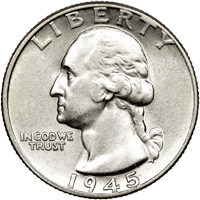 1945 Washington Quarter Value | CoinTrackers