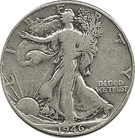 1946 D Walking Liberty Half Dollar