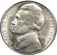1946 Jefferson Nickel