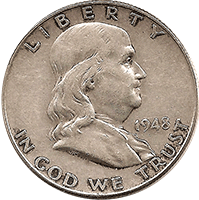 1948 Ben Franklin Half Dollar