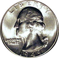 1949 D Washington Quarter
