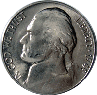 1949 S Jefferson Nickel