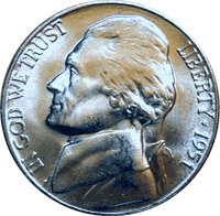 1951 Jefferson Nickel Value | CoinTrackers