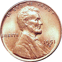 1951 S Wheat Penny