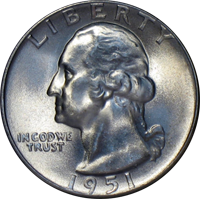 1951 Washington Quarter