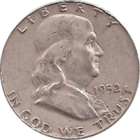 1952 D Ben Franklin Half Dollar