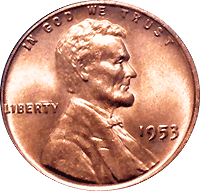 1953 Wheat Penny