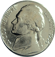 1954 Jefferson Nickel