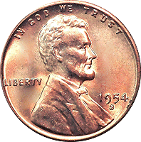 1954 S Wheat Penny