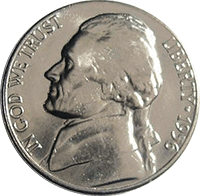 1956 D Jefferson Nickel