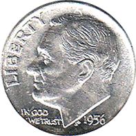 Image result for There are 118 ridges on the edge of a United States dime.