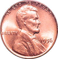 1956 D Wheat Penny