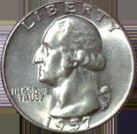 1957 Washington Quarter Value Cointrackers