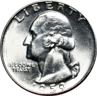 1959 D Washington Quarter