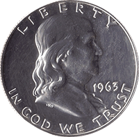 1963 D Ben Franklin Half Dollar