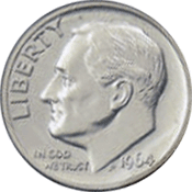 1964 D Roosevelt Dime Value | CoinTrackers