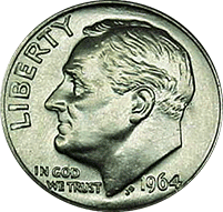1964 Roosevelt Dime Value | CoinTrackers
