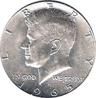 Liberty 1965 иностранная монета в простонародье получила название боб
